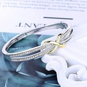 Jewelry - Silver Diamond Gold Infinity Design Bracelet